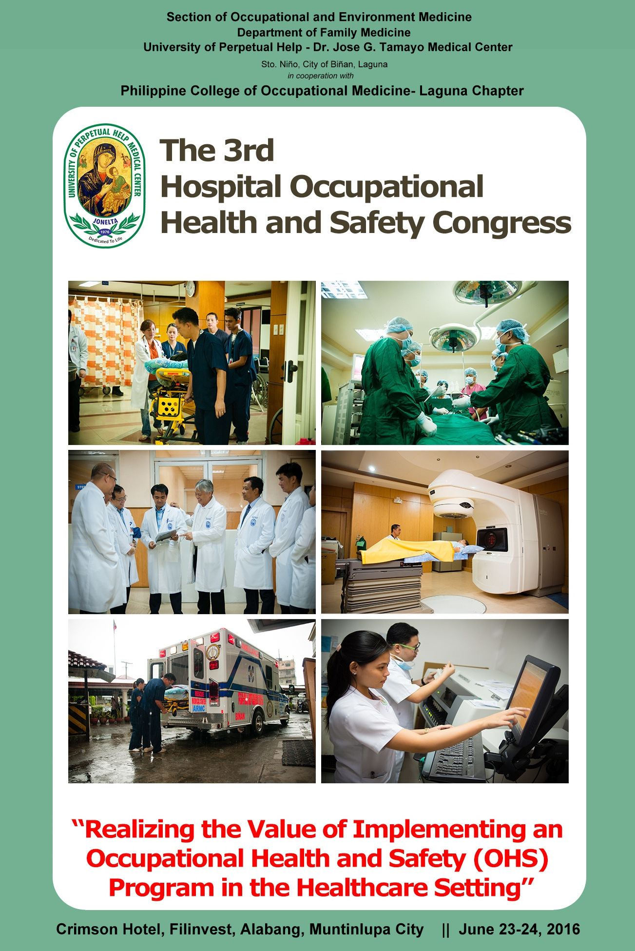 The 3rd Hospital Occupational Health and Safety Congress